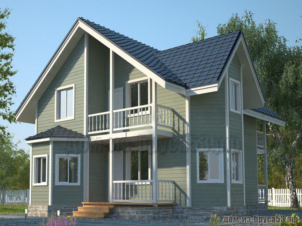 Проект №584. Дом из бруса 8.5х10.5