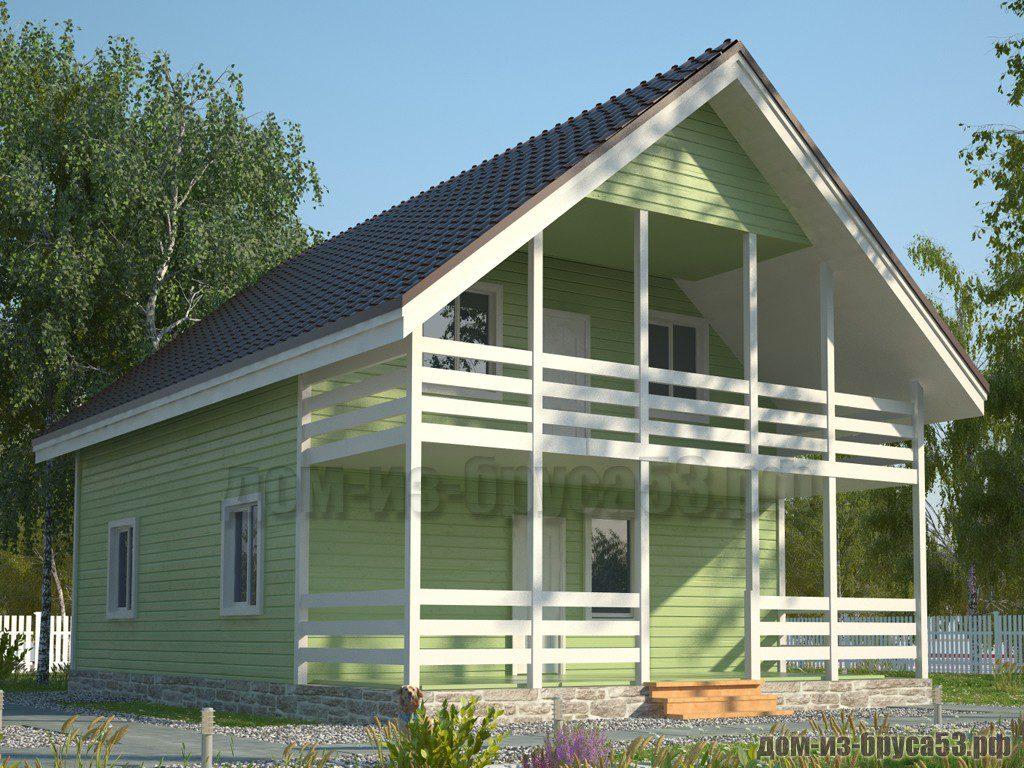 Проект №585. Дом из бруса 8х12