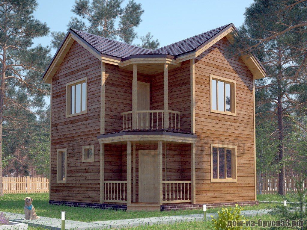 Проект №595. Дом из бруса 7х7