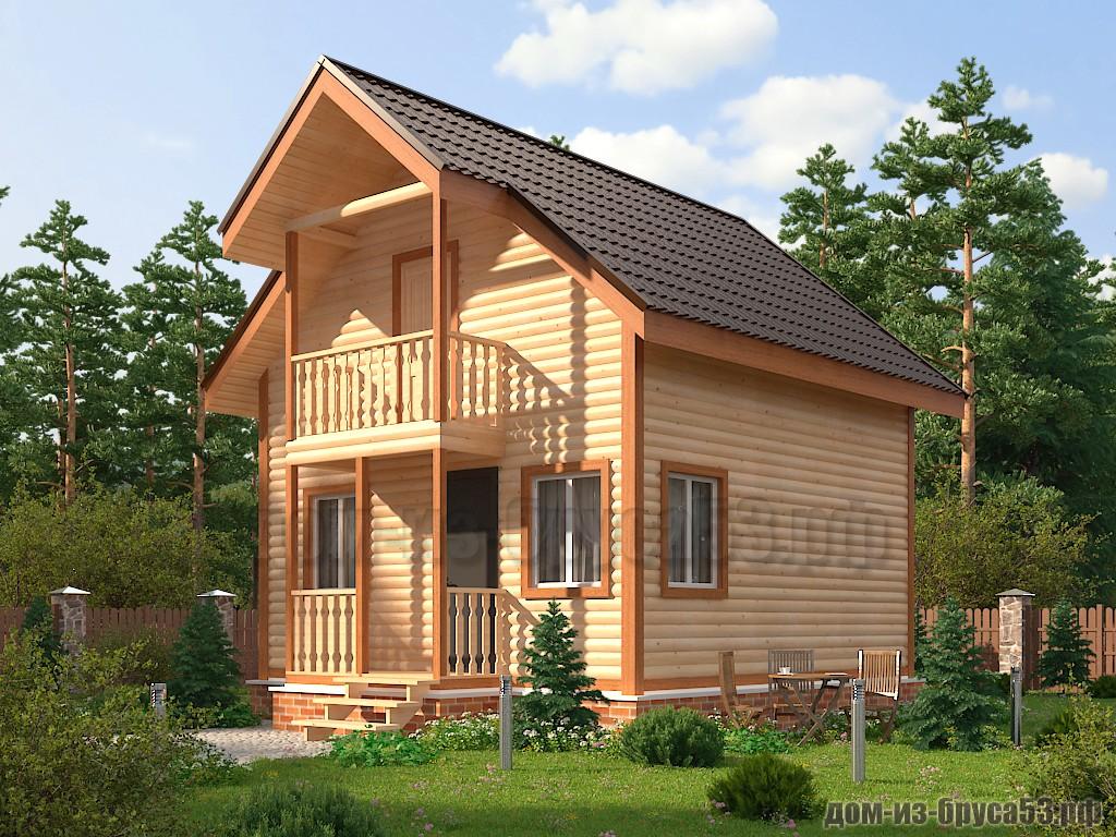 Проект №605. Дом из бруса 6х6