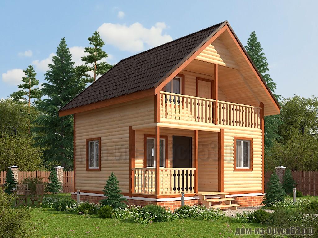 Проект №608. Дом из бруса 6х6