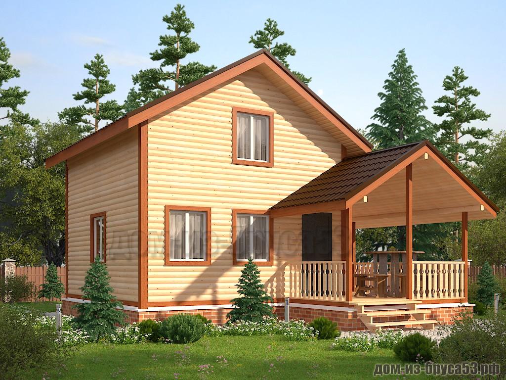 Проект №609. Дом из бруса 6х6