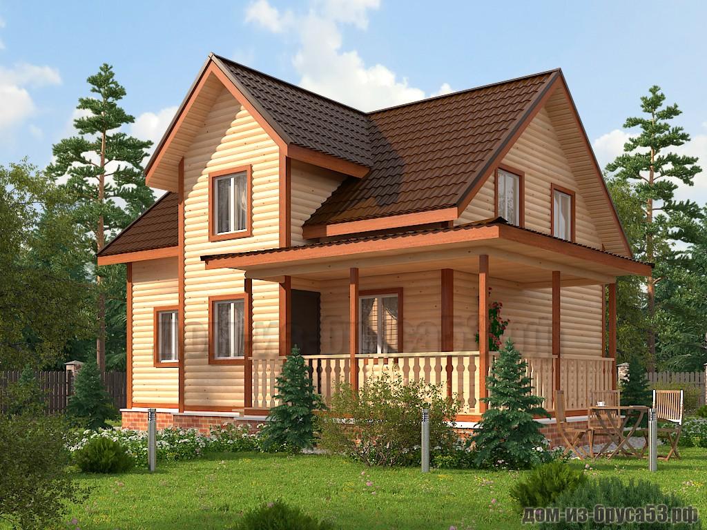 Проект №610. Дом из бруса 8х9