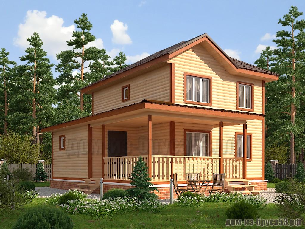Проект №612. Дом из бруса 8х8.5
