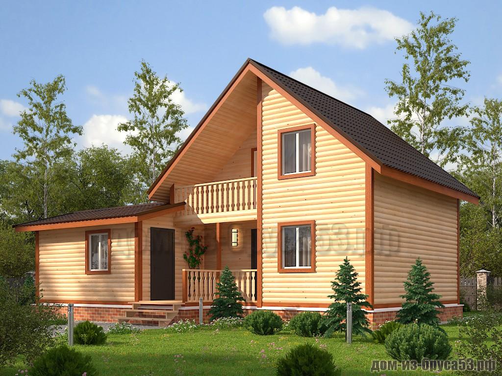 Проект №613. Дом из бруса 7х7.5