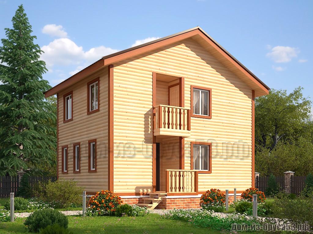Проект №614. Дом из бруса 6х8