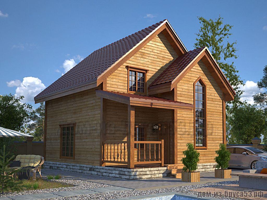 Проект №601. Дом из бруса 7х7