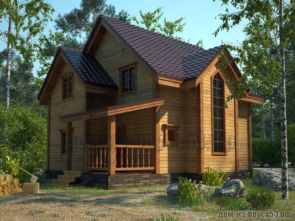 Проект №602. Дом из бруса 7х7