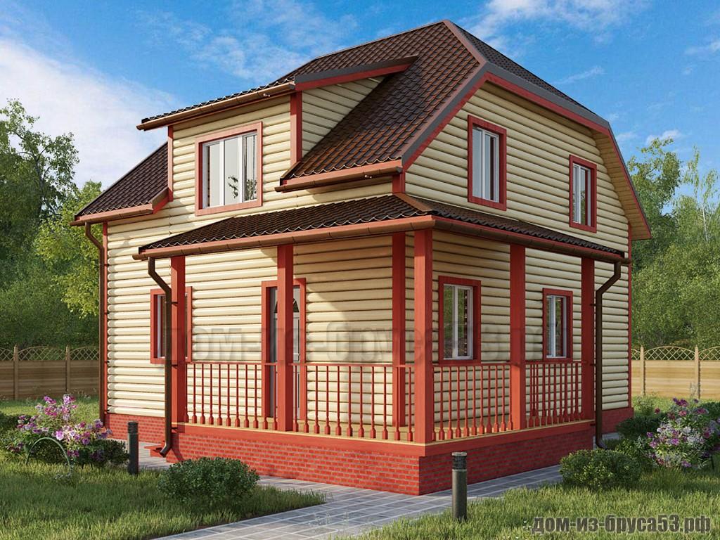 Проект №616. Дом из бруса 7х8