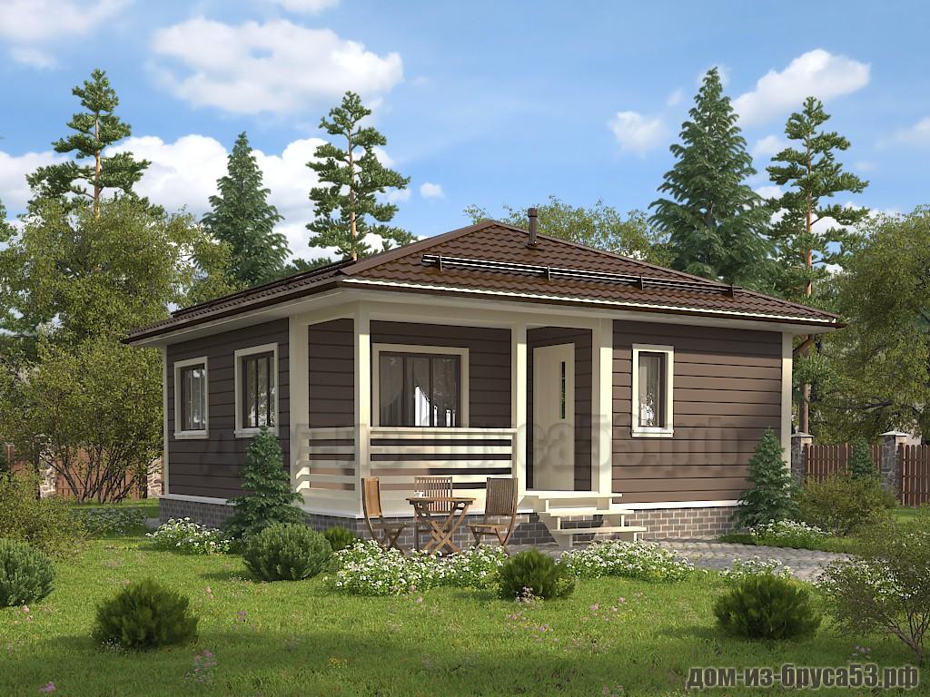 Проект №618. Дом из бруса 8х8