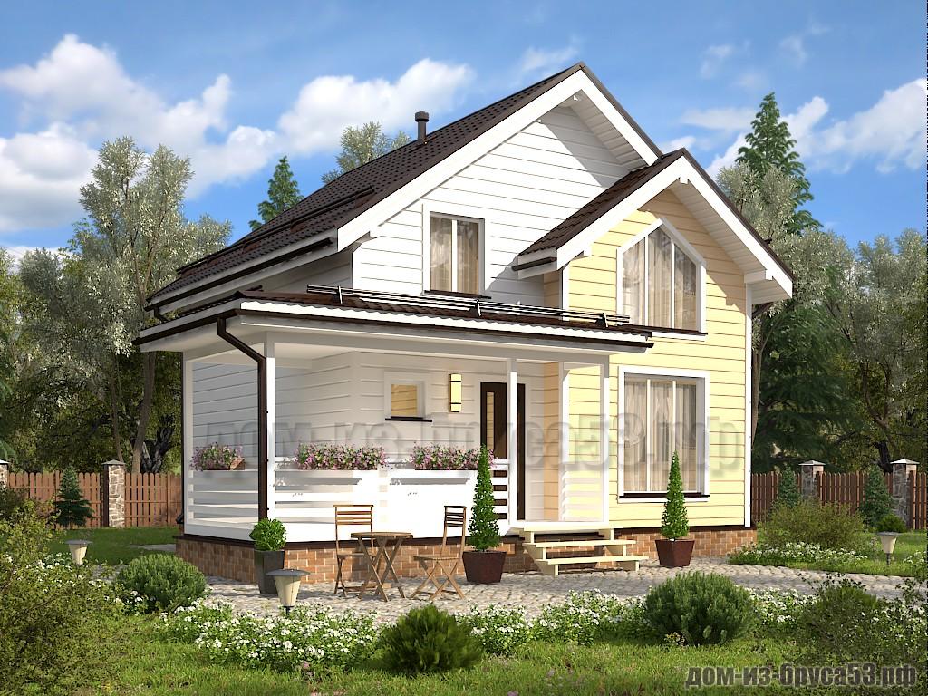Проект №620. Дом из бруса 7.5х8.5