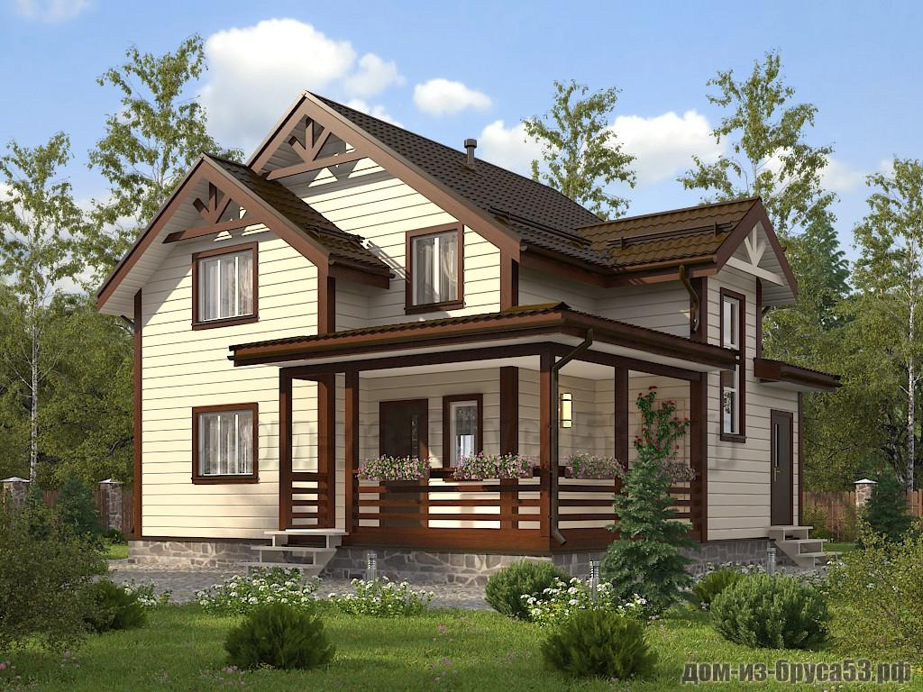 Проект №621. Дом из бруса 9х10