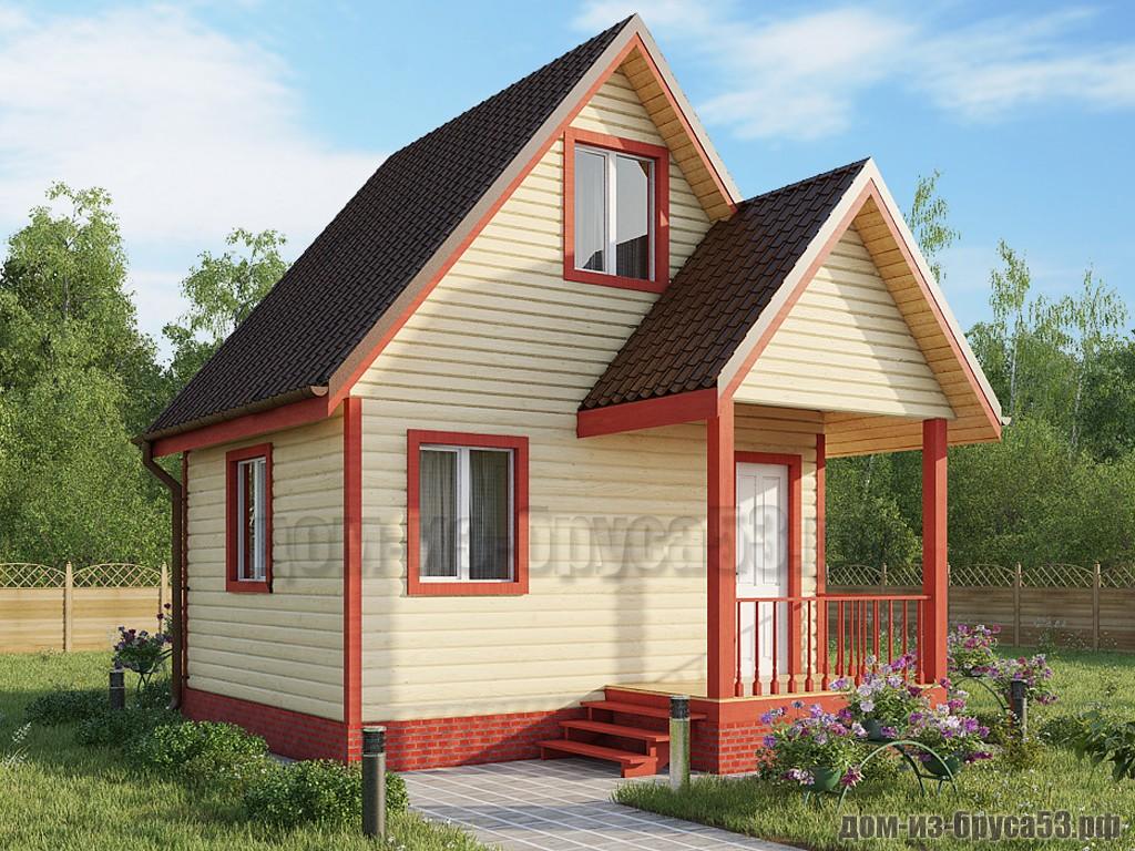 Проект №622. Дом из бруса 5х5.5