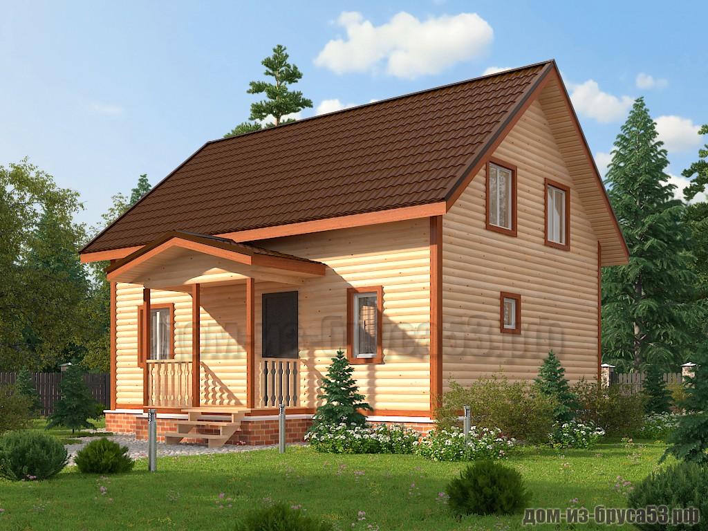 Проект №623. Дом из бруса 6х6