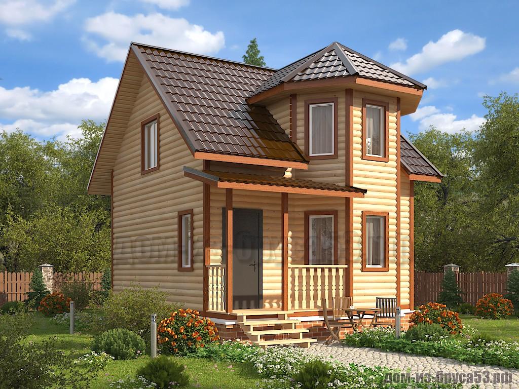 Проект №624. Дом из бруса 6х7