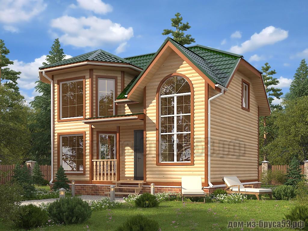 Проект №626. Дом из бруса 7х9