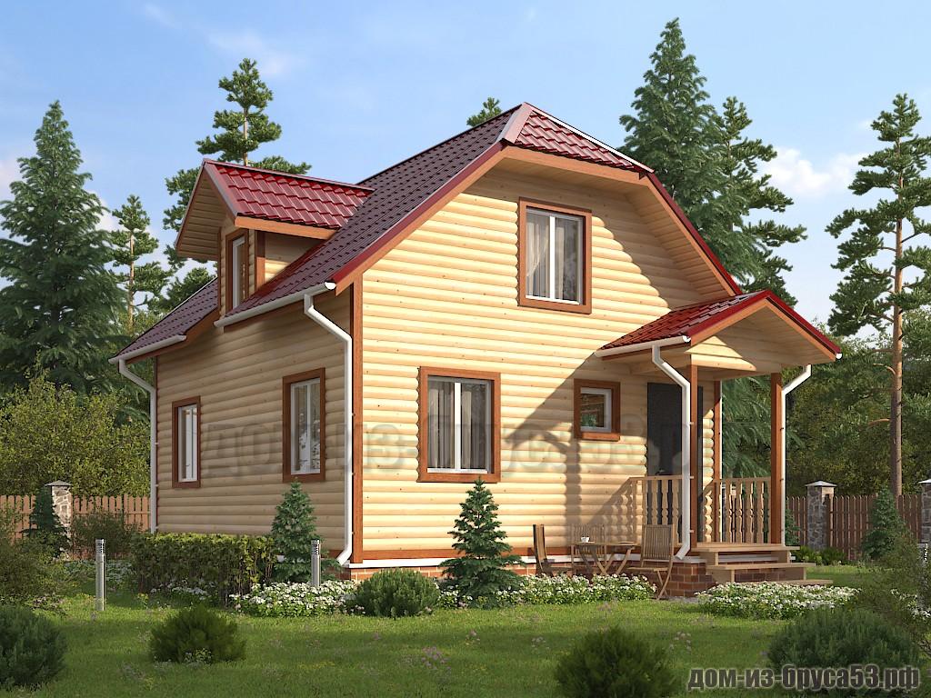 Проект №627. Дом из бруса 6х7