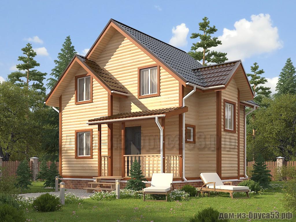 Проект №628. Дом из бруса 7х8