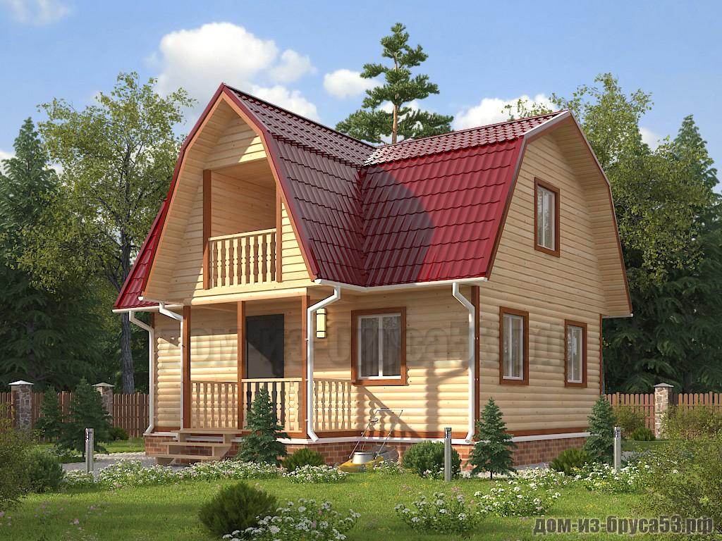 Проект №630. Дом из бруса 6х8