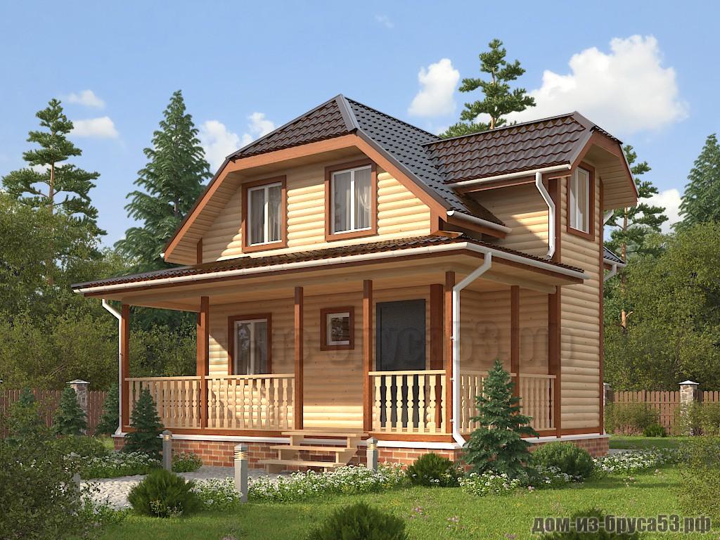 Проект №631. Дом из бруса 7.5х8.5