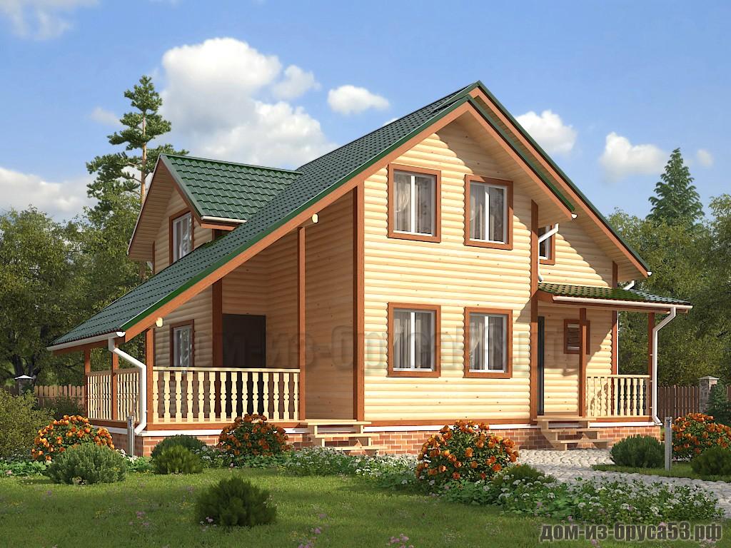 Проект №632. Дом из бруса 10х11