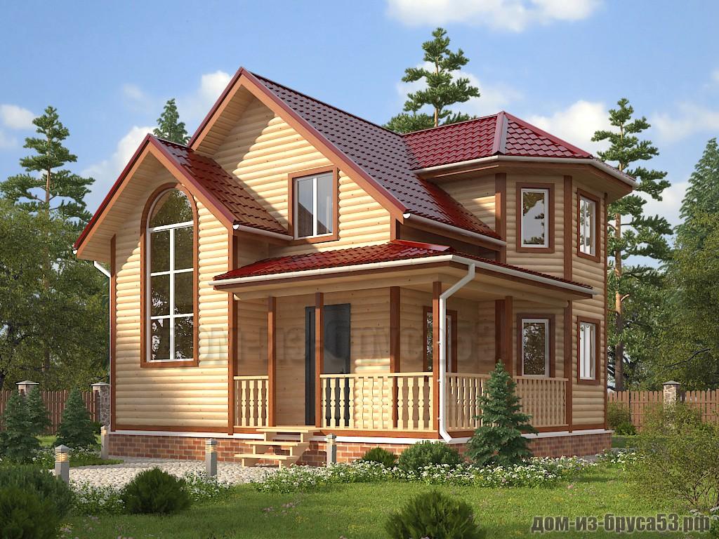 Проект №633. Дом из бруса 8х8