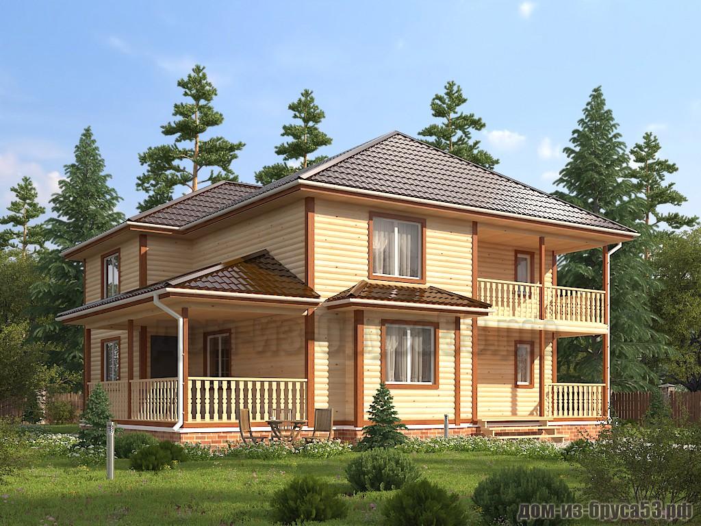 Проект №634. Дом из бруса 11х11