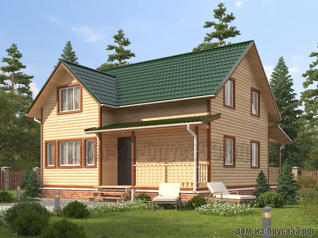 Проект №635. Дом из бруса 9х10