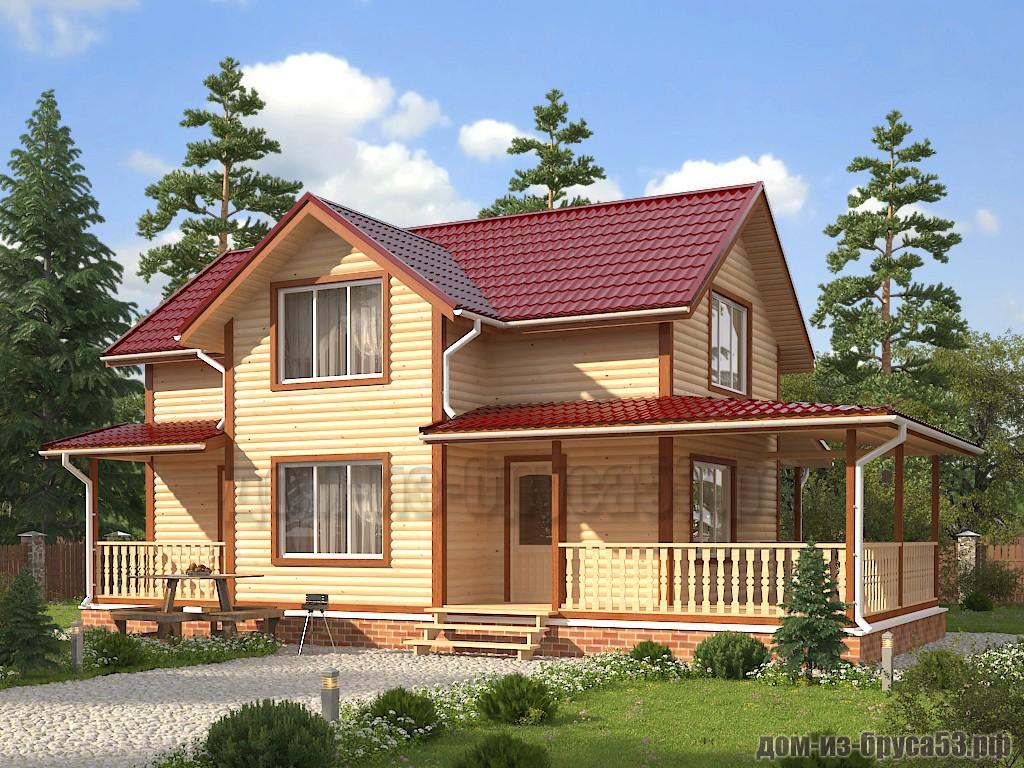 Проект №636. Дом из бруса 9х10