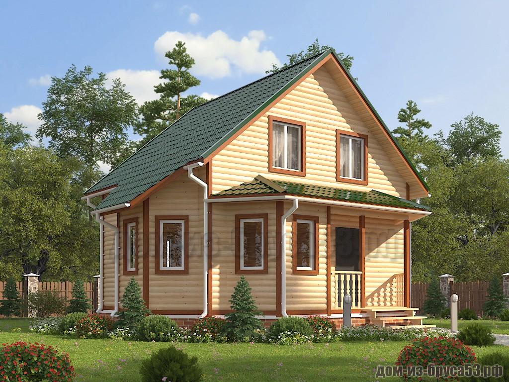 Проект №645 Дом из бруса 7х8