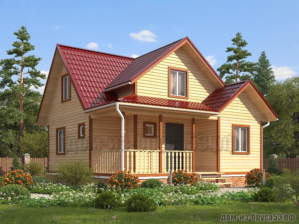 Проект №646 Дом из бруса 8х8