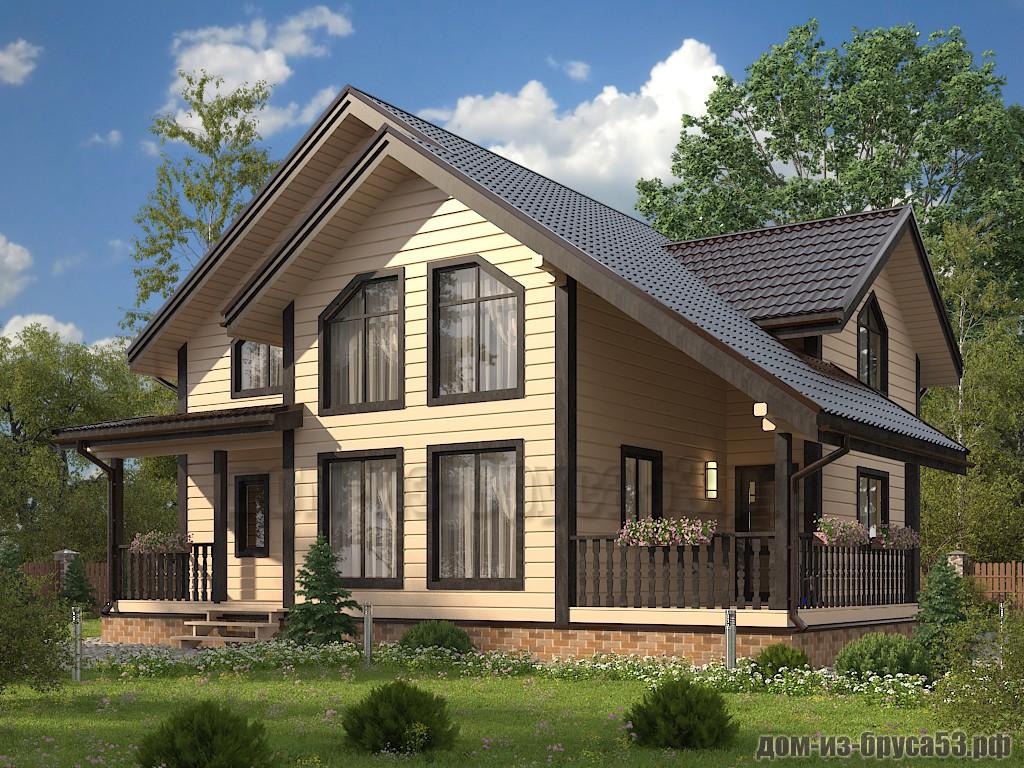 Проект №650 Дом из бруса 10.5х12