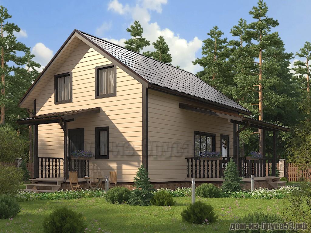 Проект №651 Дом из бруса 7х9