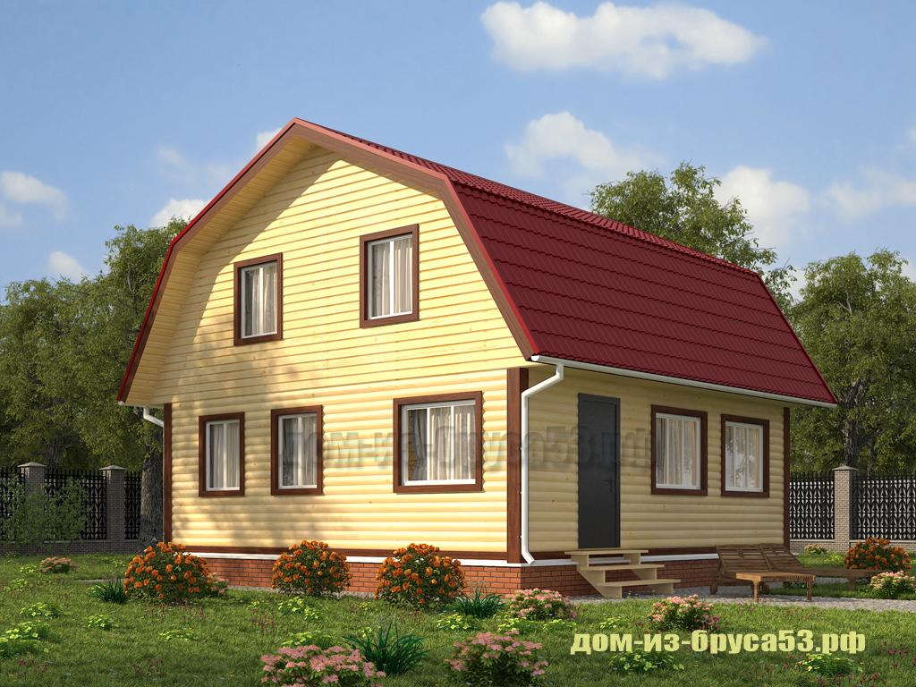 Проект №240Ф. Дом из бруса 7х9