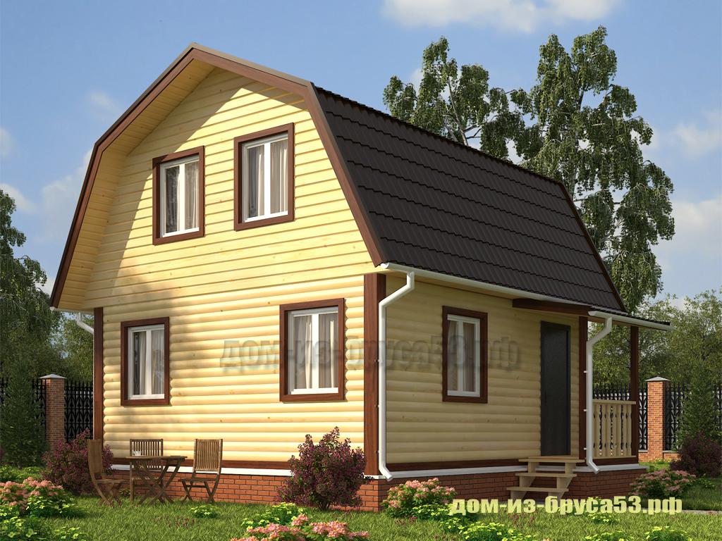 Проект №240Б. Дом из бруса 6х9