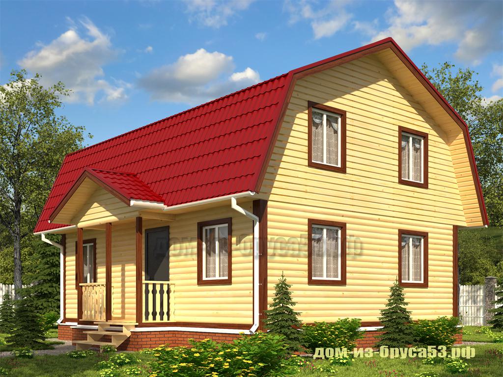 Проект №240Д. Дом из бруса 7х9
