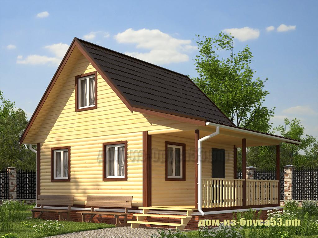 Проект №644. Дом из бруса 8х9