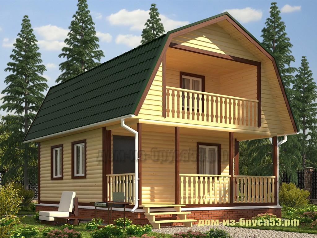 Проект №570Б. Дом из бруса 6х8