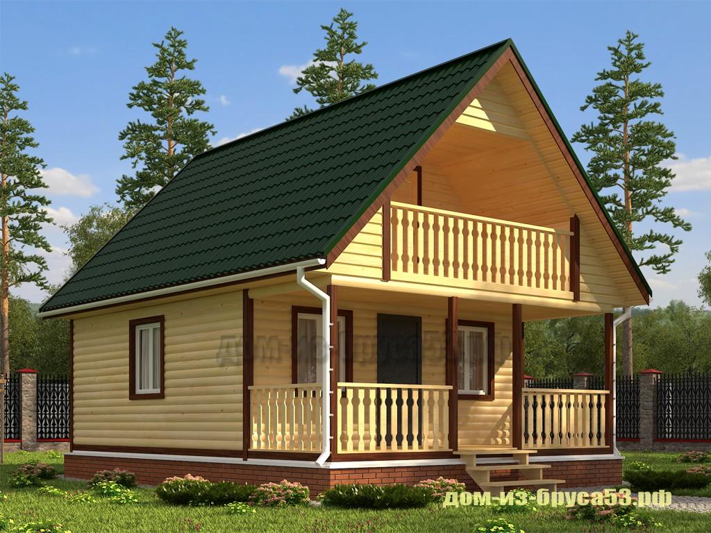 Проект №222Б. Дом из бруса 6х7.5