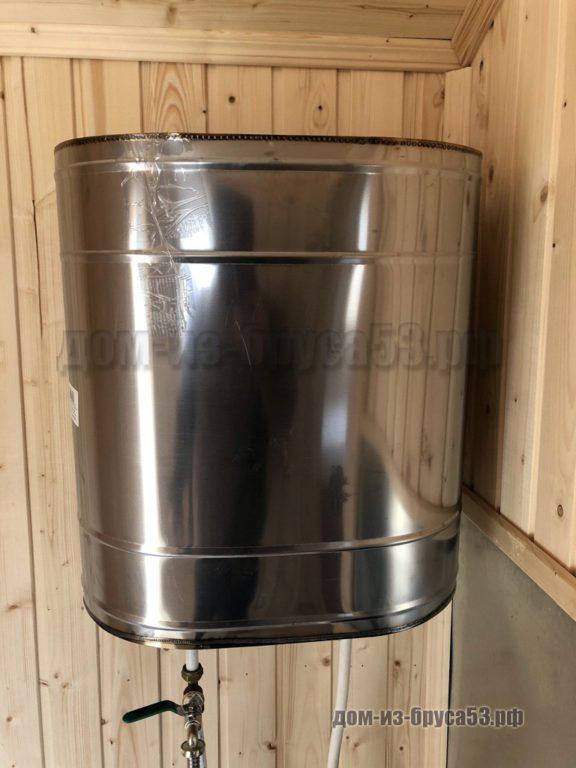 Бак из нержавеющей стали для нагрева воды от банной печи
