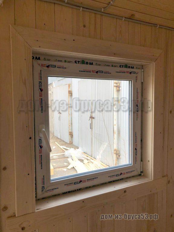 Окна ПВХ в мобильной бане