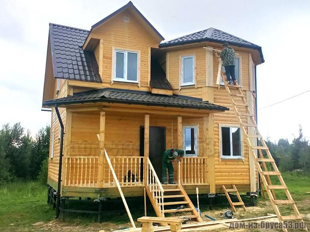 Строительство дома из бруса 7х8