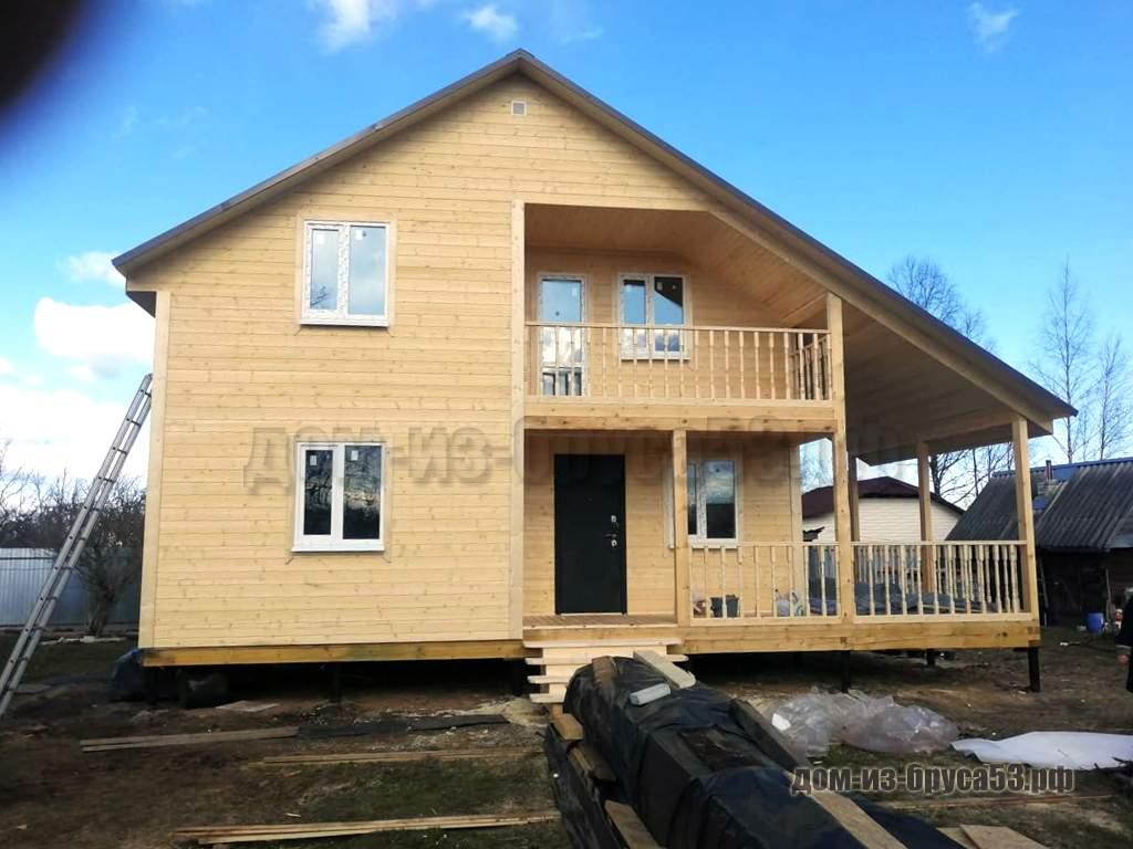 Дом из бруса 8х8 Проект №318.