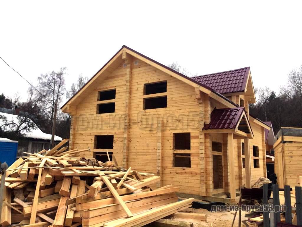 Строительство брусового дома под усадку