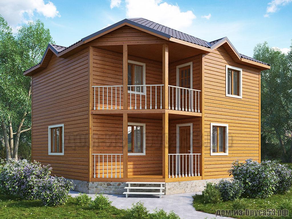 Каркасный дом 8х8. Проект № К251