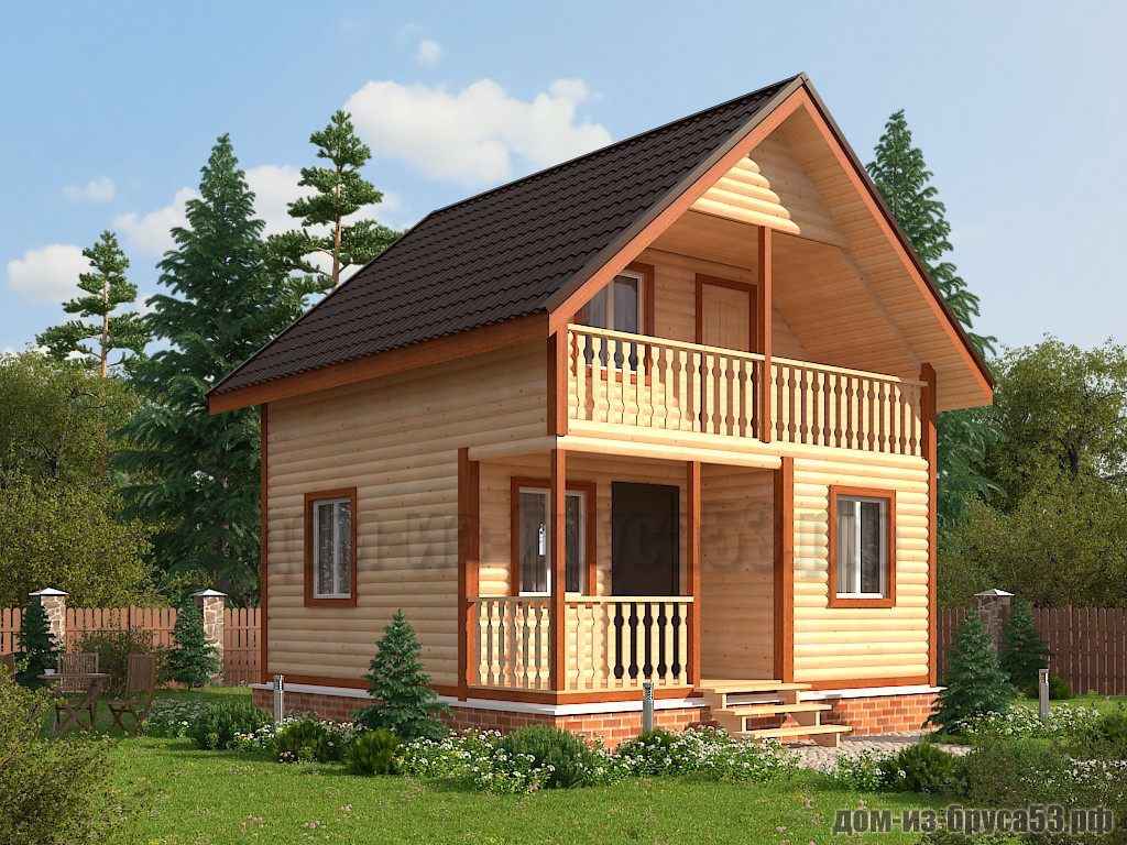 Каркасный дом 6х6  К608.