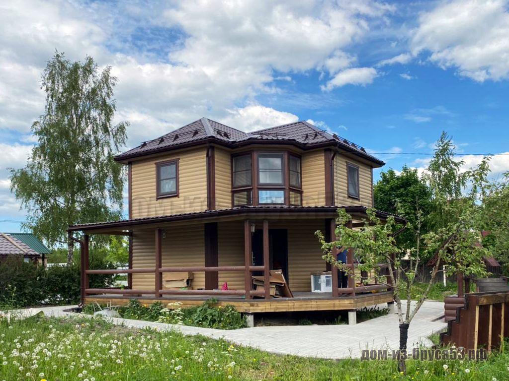 Дом из бруса 7.5х8 Проект №260.