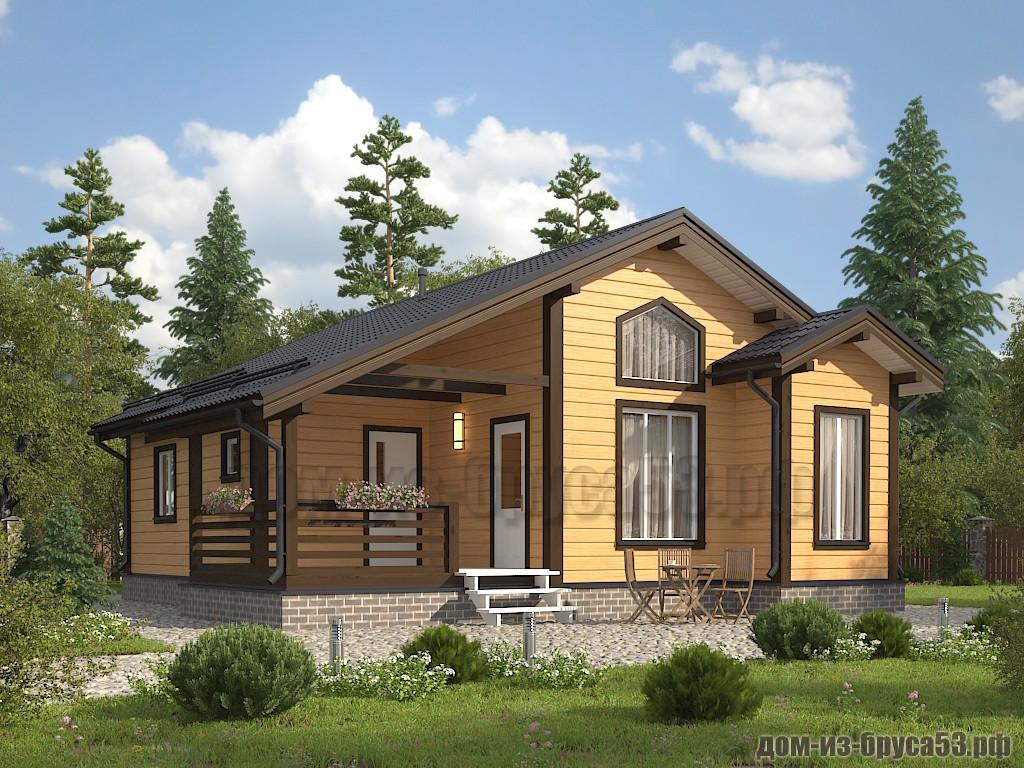 Прекрасный проект одноэтажного дома