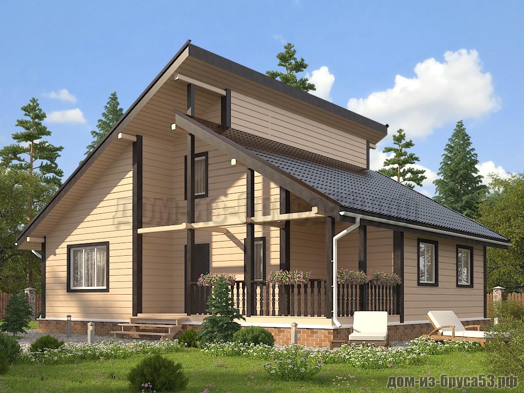 Каркасный дом 11х12  К655.