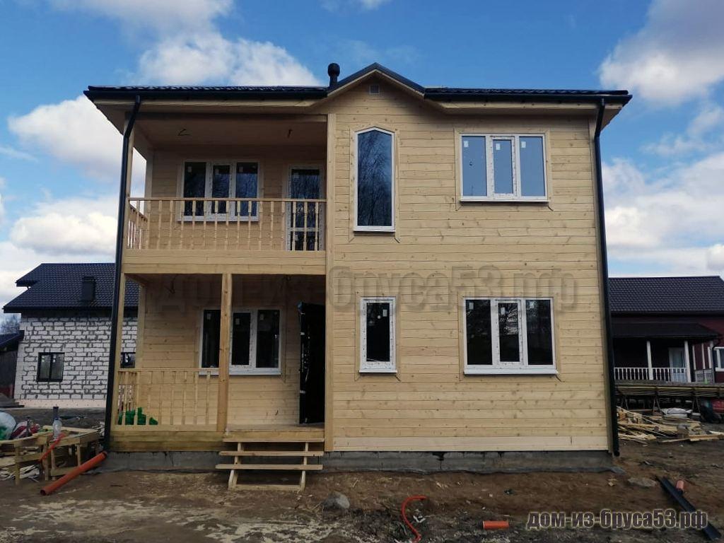 Строительство дома из бруса 8х8 два этажа